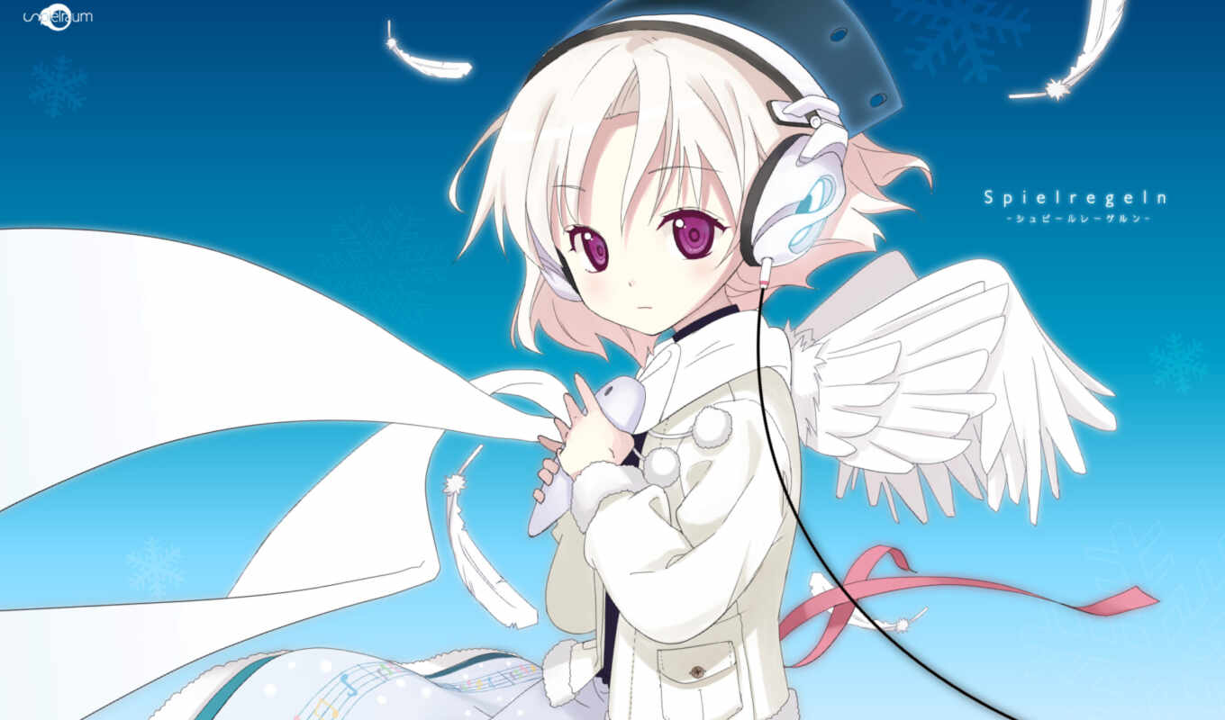 wings, headphones, music, angel, page, kanamemo,