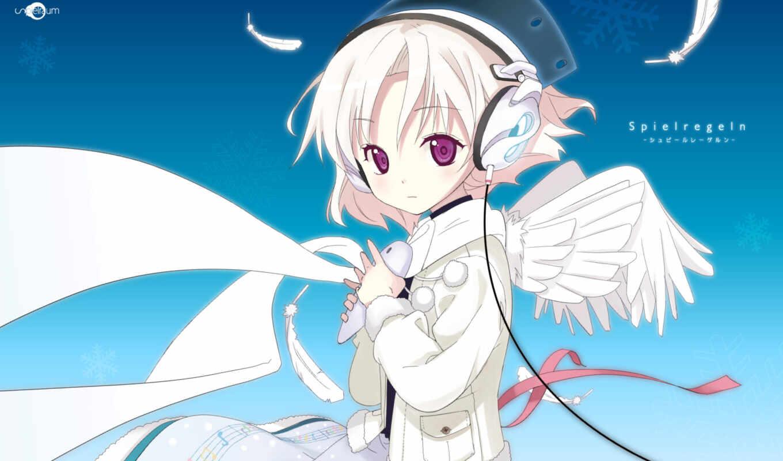wings, headphones, music, angel, page, kanamemo,