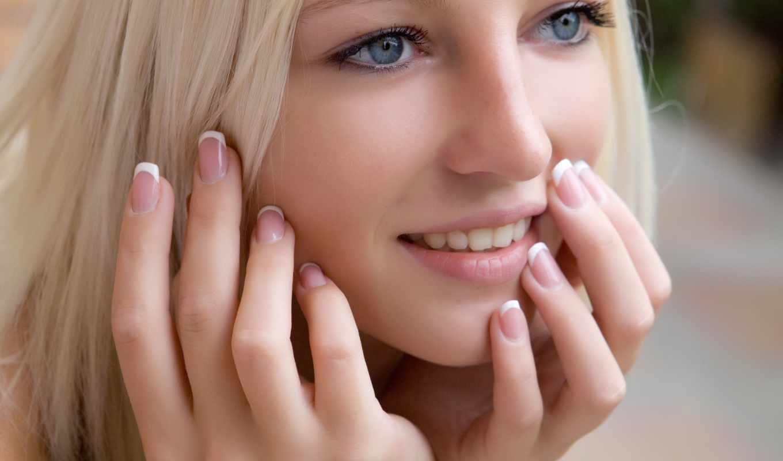 blonde, взгляд, макияж, девушка, голубоглазая, нравится, улыбка, глазами, голубыми,