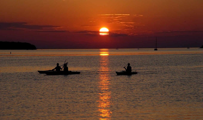 закат, пляж, desire, природа, scene,
