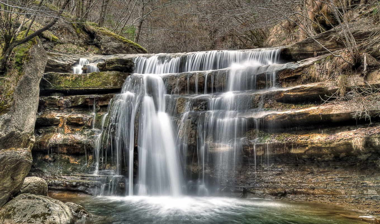 водопад, дикаприо, леонардо, чёрно, белые,