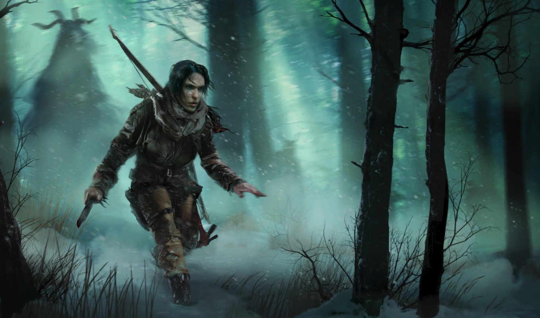 tomb, raider, взлёт, лара, croft, храм, yaga, baba,
