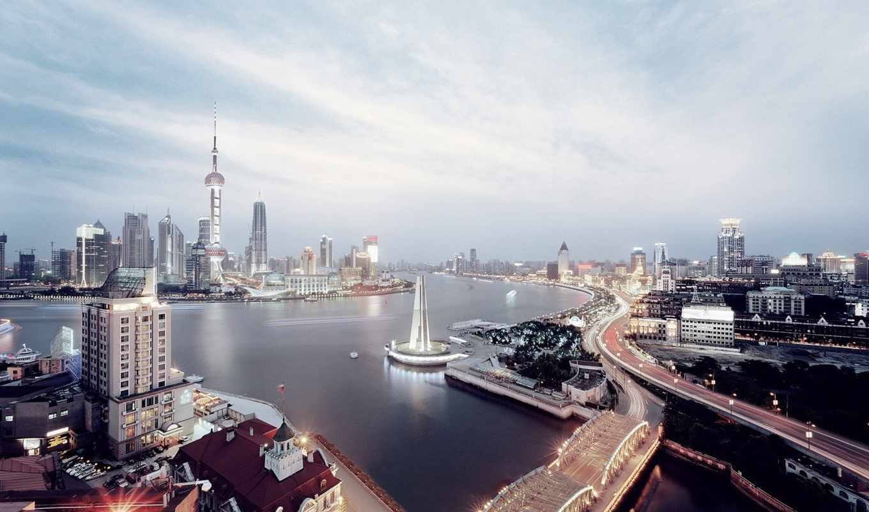 cityscapes, shanghai, skyline, качество, futuristic, desktop,