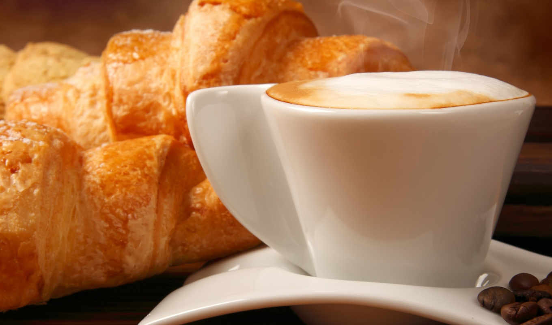 coffee, cappuccino, круассаны, skin, еда, круассаны, fototapety, cup, кофейные,