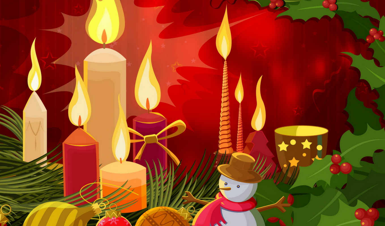 christmas, year, new, merry, xmas, vector, winter, новогодние, candles, normal,