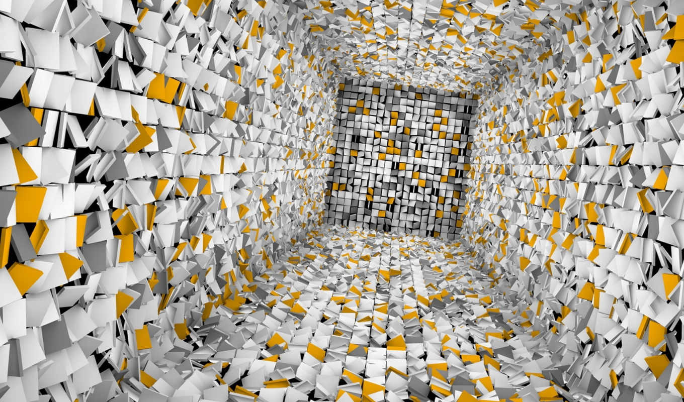 background, графика, abstract, pictures, cubes, hole, комната, free,