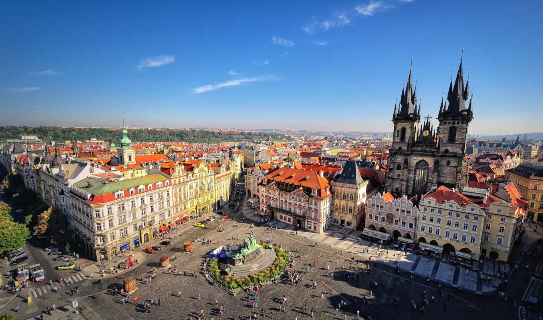 прага, город, республика, чешская, города,