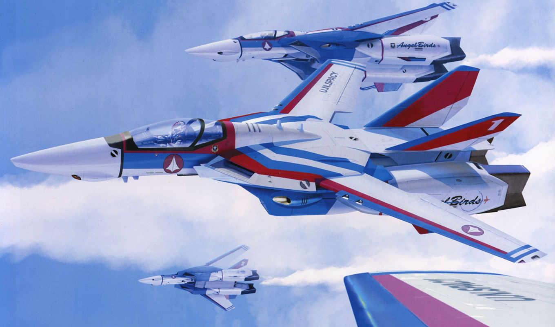 macross, рисованные, самолеты, авиация, super, fortress,