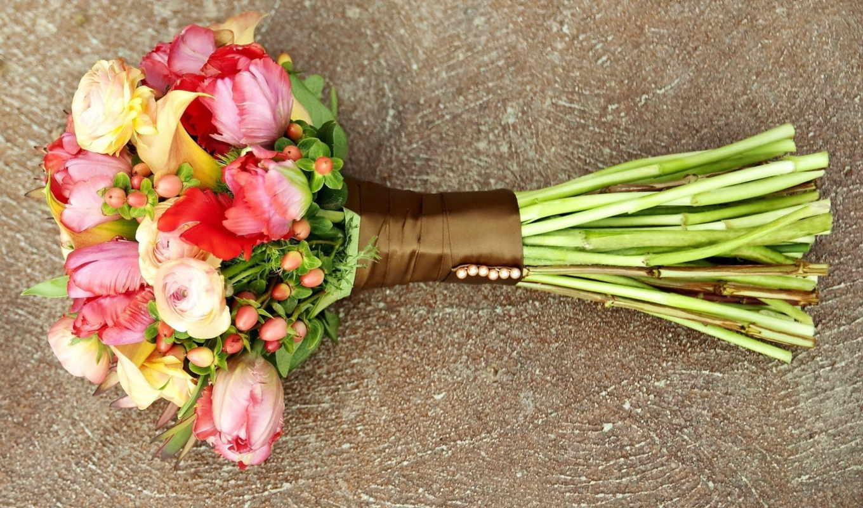 ранункулюс, цветы, букет, красиво,