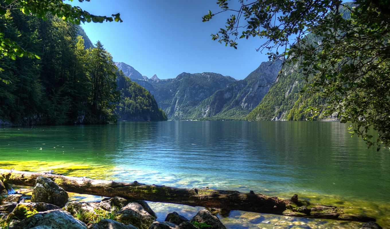 картинка, природа, landscape, германия, пейзажи, elements, бавария, река, water, горы,