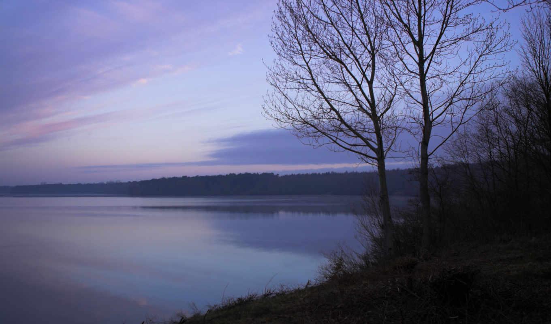озеро, nature, дерево, this, river, waterscapes, склон, waterscape, свежесть, утро, туман,