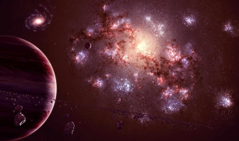 планета, астероиды, спутник, гигант, газовый, universe, galaxy, картинка, картинку,
