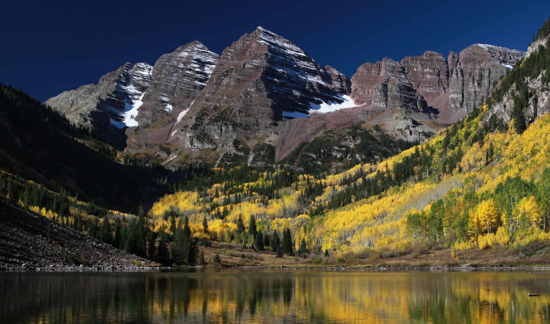 горы, colorado, природа, скалы, usa, деревя, озеро, гор,