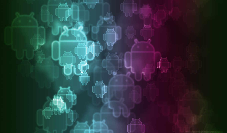 android, лого, прозрачный, разноцветный