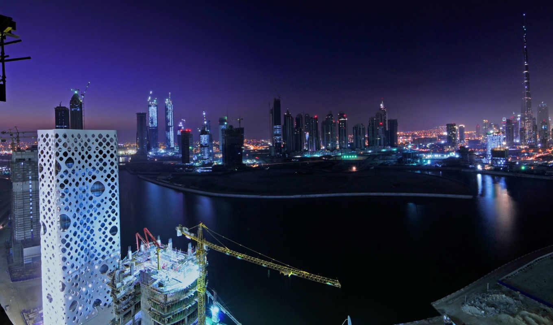 dubai, buildings, ночь, арабский, мира, город, united, favourite,