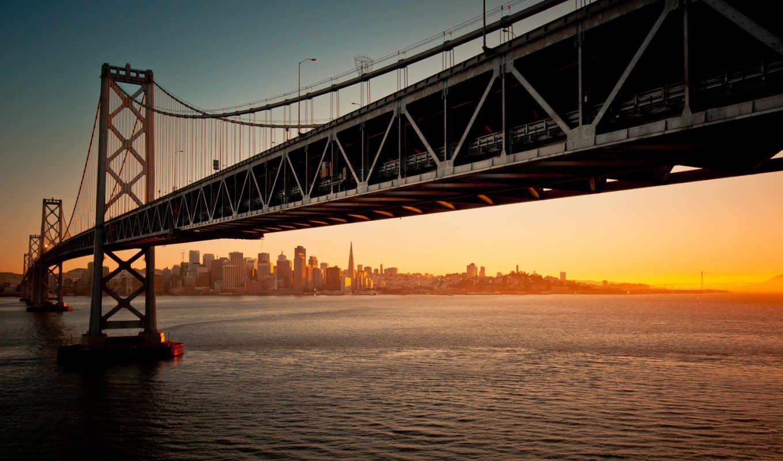 мост, francisco, san, bay, золотистый, gate,