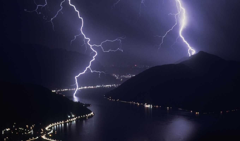 молнии, lightning, ночь, гроза, природа, full, широкоформатные, разряды, luz, радуги, энергия,