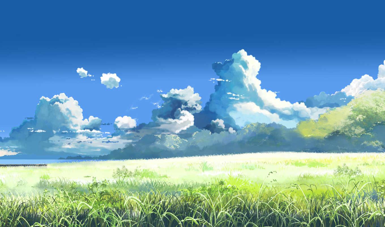 макото, синкай, summer, за, облаками,