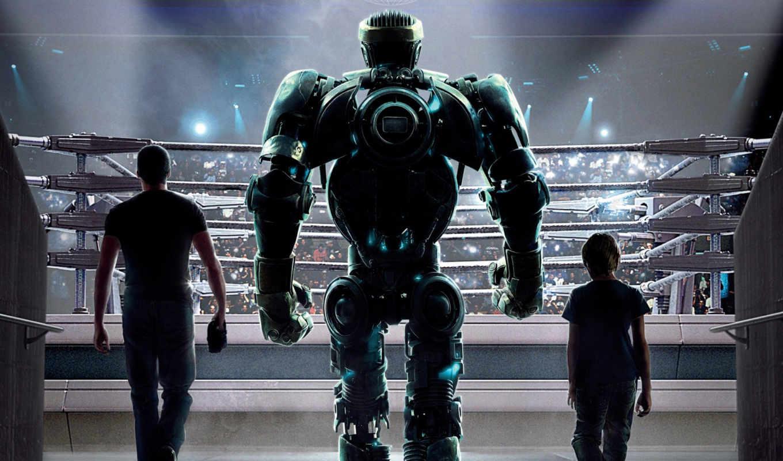 стальной, real, çelik, yumruklar, izle, robot, trailer,