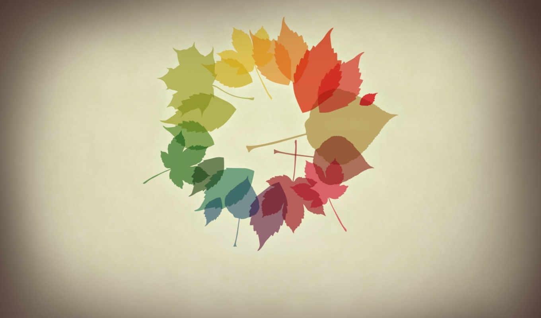 минимализм, осень, листья, осенние, october, desktop, картинка, colours, картинку,