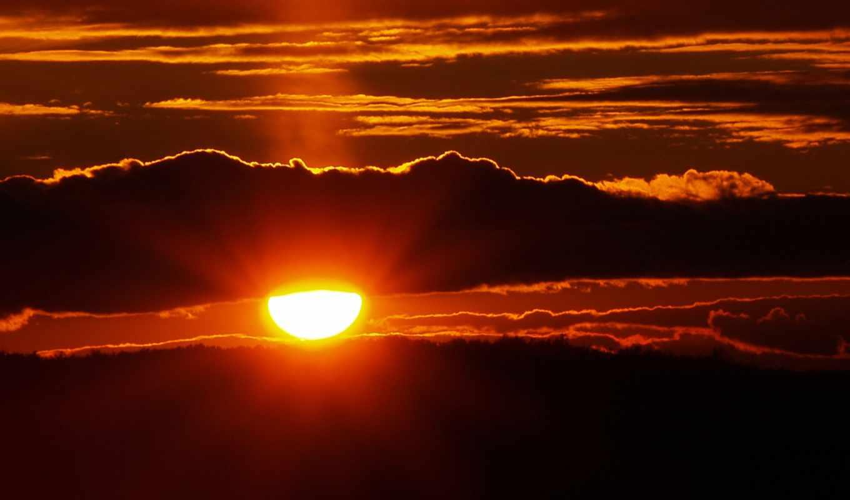 закат, sun, пейзажи,