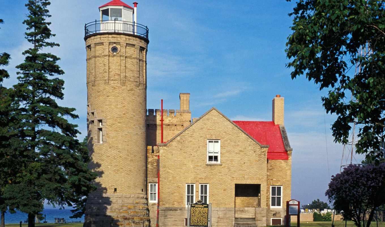 mackinac, lighthouse, point, маяки, michigan, коллекция, мира,