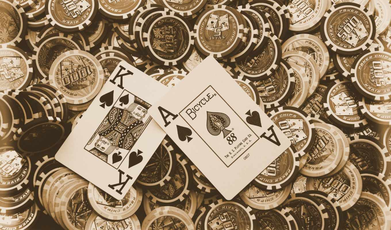 покер, карты, фишки, рисунки,