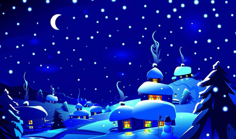 doman, card, сервис, christmas, фронтовой, праздник, ночь, animal