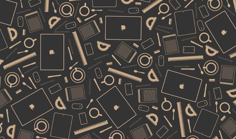 карандаши, вектор, линейки, обои, стиль, coffee, м