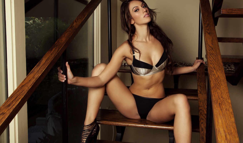 beretta, sophia, модель, девушка, лестнице, сексульная, белье, sexy, picture,