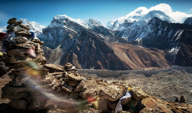 тибета, горы, небо, дух, ветер, тибет, скалы, картинка,