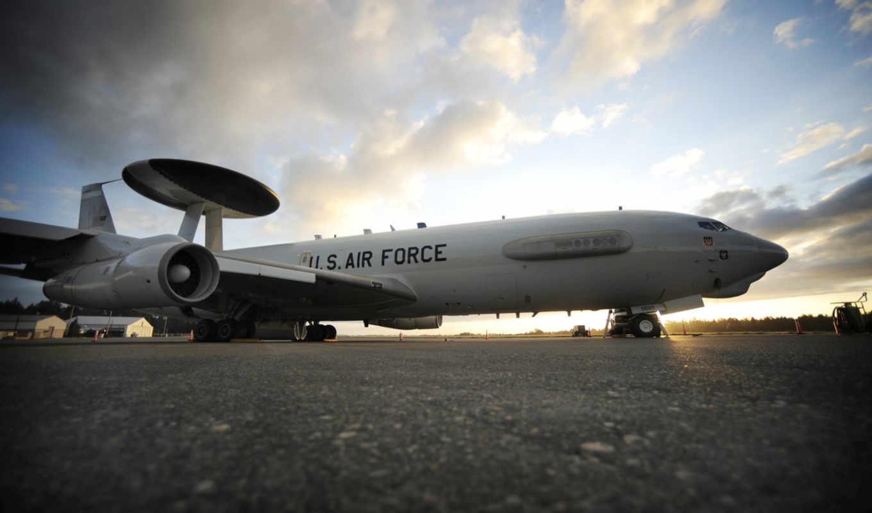 sentry, boeing, самолёт, awacs,
