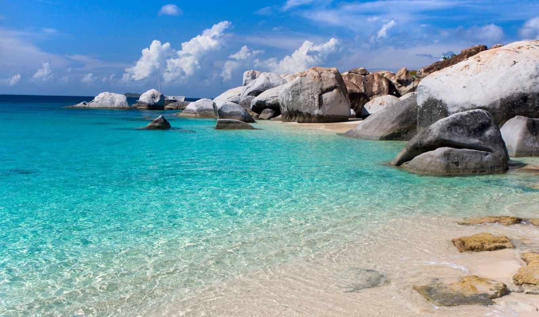 море, природа, камни, небо, песок,