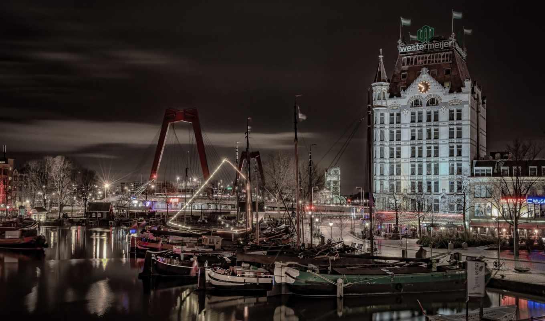 марио, calma, flickr, photos, нидерланды, роттердам, ночь, oude, огни,