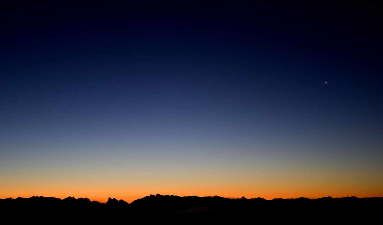 небо, пейзажи, природа, закат, просмотров,