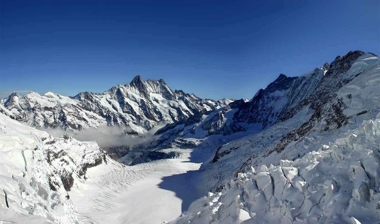 горы, зима, снег, природа, пейзажи, фотографии,