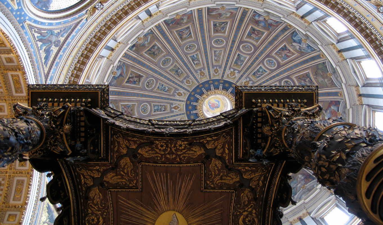 , Мозаика, купол, святого, арка,