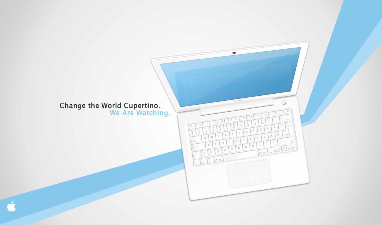 apple, белый, фон, ноутбук, cupertino