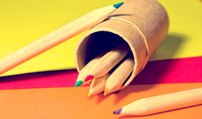 рисунки, фоновые, карандаши, дек,