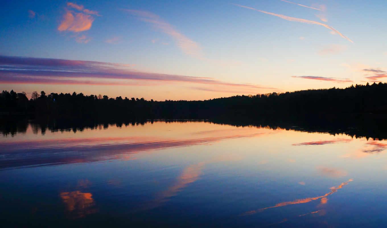 небо, природа, water, desktop, отражение, озеро, free,