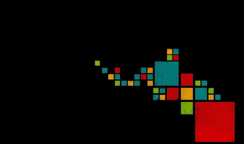 абстракция, black, разные, кубики, white,