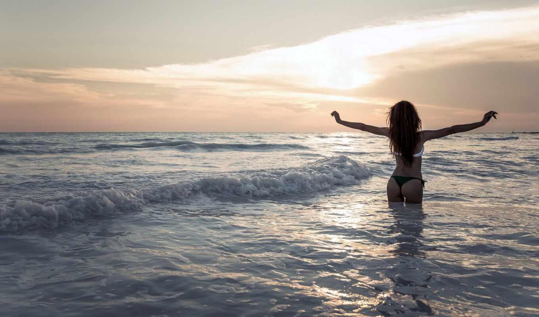 море, девушка, devushki, бикини, настроение, freedom, тебе, waves,
