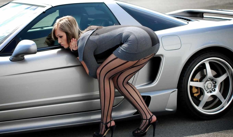 , машина, рулём, devushki, вид с заду,девушка,