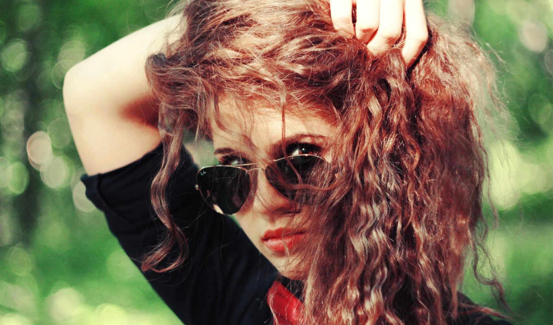 девушка, кудри, очках, рыжая, красивые, очки, взгляд, devushki, девушек, рыжие, настроения,