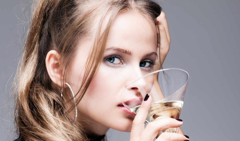 девушка, бокалом, мартини, бокала, stock, женщина, glass,