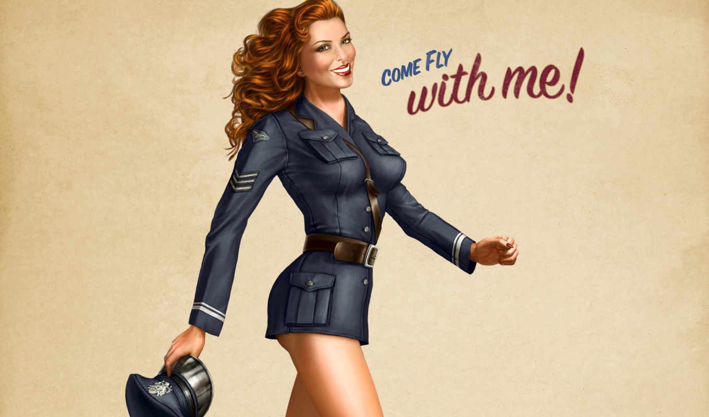 пилот, рисунок, форма, ап, пин, fly, девушки, come, игры, girls, пинап, with, стиле, смотрите, со, девушка, desktop, мной, кликните, midway, battlestations, видео,