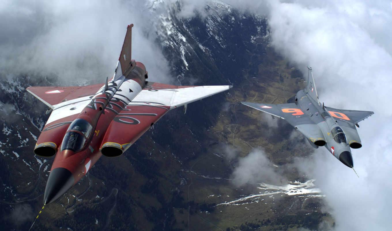 уничтожители, destroyers, draken, истребители, облака, высота, saab, авиация, fighter,