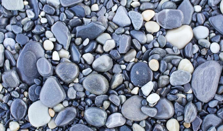 галька, скалы, серая, текстура,