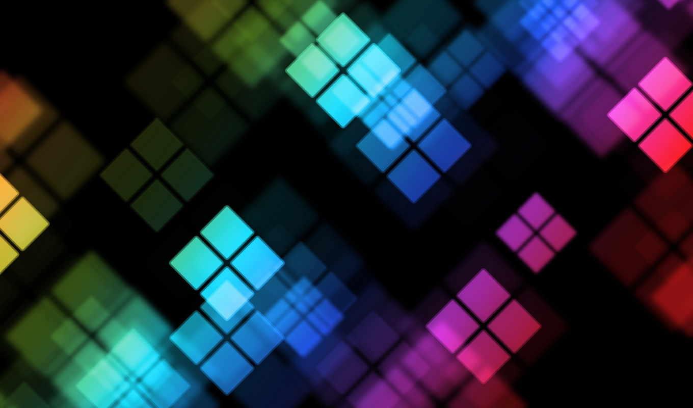 color, абстрактная, графика, квадраты, столе, рабочем, фона, отражение, категория, фоны,