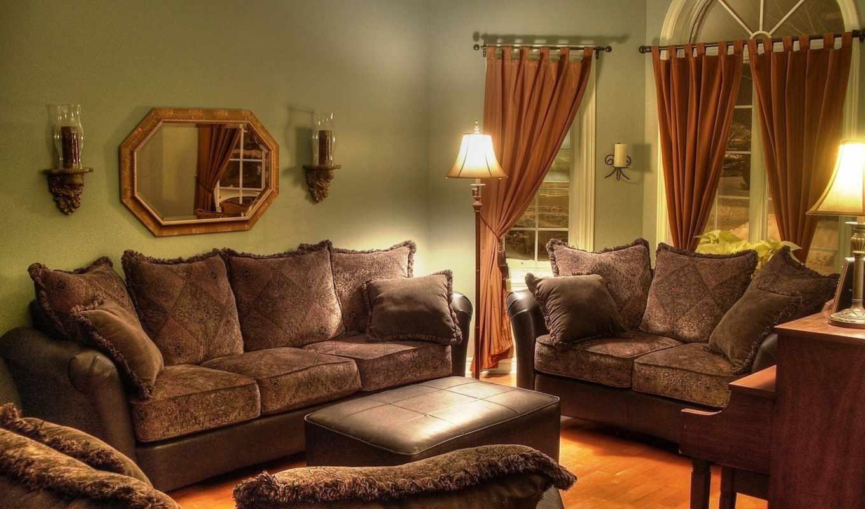 диван, interer, dizain, stil, комната, мебель,